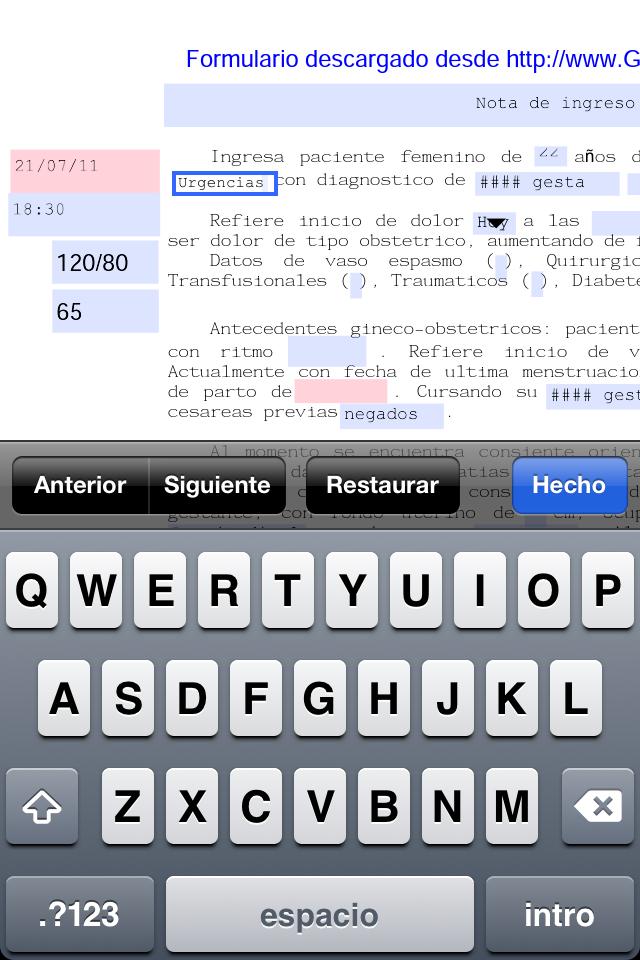 Formato rapido de ingreso a tocoQX, pdf