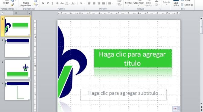 Tema de la Universidad Veracruzana, PowerPoint